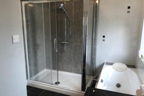 Shower & Sink Installed