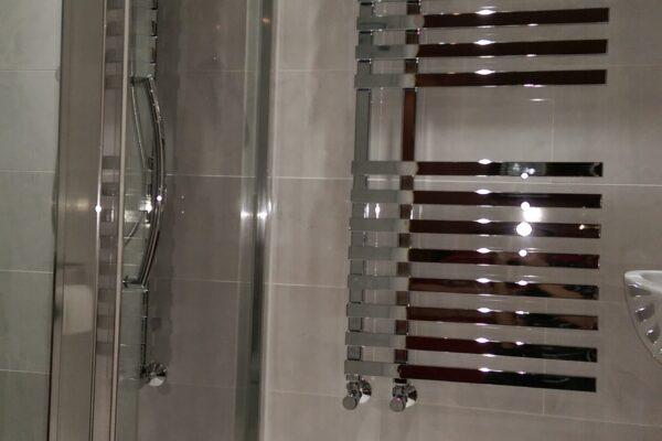 Towel Rack & Shower