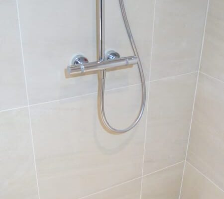 Shower Installed with drainage