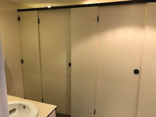 Toilet Cubicle Installed